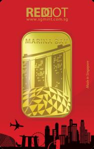 1 oz. 9999 Marina Bay Bar